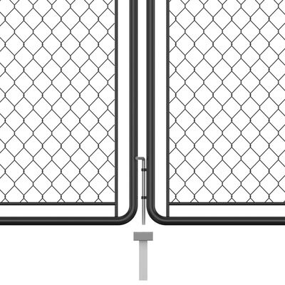 vidaXL Garden Gate Steel 175x395 cm Anthracite