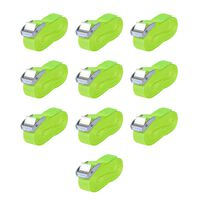 vidaXL Straps 10 pcs 0.25 Tonnes 5mx25mm Fluorescent Green