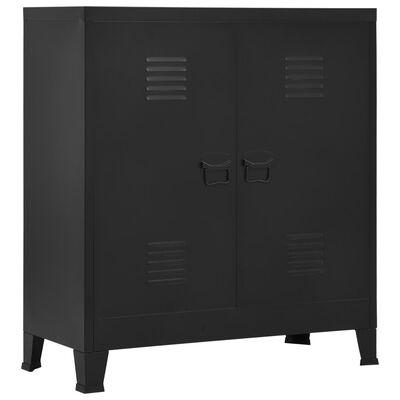vidaXL Filing Cabinet Industrial Black 90x40x100 cm Steel
