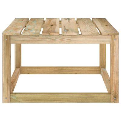 vidaXL Garden Pallet Table 60x60x36.5 cm Green Impregnated Pinewood
