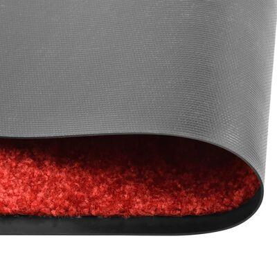 vidaXL Doormat Washable Red 120x180 cm