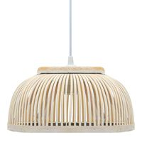vidaXL Pendant Lamp Bamboo 37x15.5 cm 40 W Semicircle E27