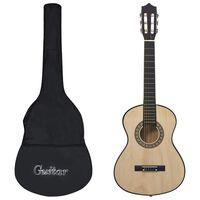 vidaXL 8 Piece Classical Acoustic Guitar Children Beginner Set 1/2 34