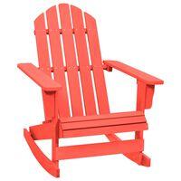vidaXL Garden Rocking Adirondack Chair Solid Fir Wood Red
