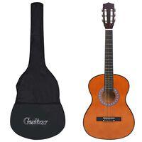 """vidaXL 8 Piece Classical Guitar Kids and Beginner Set 3/4 36"""""""