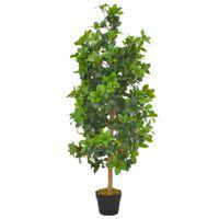 vidaXL Artificial Plant Laurel Tree with Pot Green 120 cm