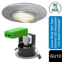 4litewiz Connected Gu10 White Led Lamp Satin Chrome Downlight Ip20