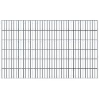vidaXL 2D Garden Fence Panels 2.008x1.23 m 10 m (Total Length) Grey