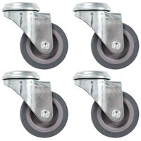 vidaXL Bolt Hole Swivel Casters 4 pcs 50 mm