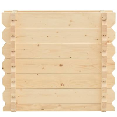 vidaXL Raised Bed 42 mm 100x50x87.8 cm Solid Spruce Wood