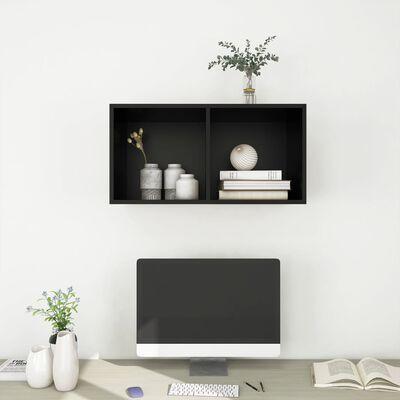 vidaXL Wall-mounted TV Cabinet Black 37x37x72 cm Chipboard
