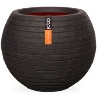 Capi Vase Nature Row Ball 40x32 cm Black KBLRO270