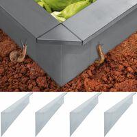 vidaXL Snail Fence Plates 4 pcs Galvanised Steel 150x7x25 cm 0.7 mm