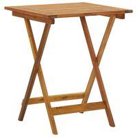 vidaXL Folding Garden Table 60x60x75 cm Solid Acacia Wood