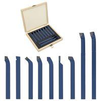 vidaXL 11 Pieces Carbide Turning Tool Set 8x8 mm P30
