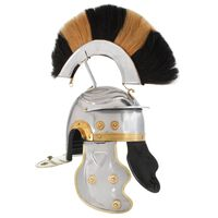 vidaXL Roman Soldier Helmet Antique Replica LARP Silver Steel