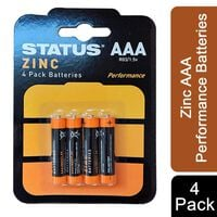 Status Zinc Aaa Performance Batteries - Pack Of 4