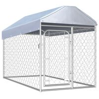 vidaXL Outdoor Dog Kennel with Roof 200x100x125 cm
