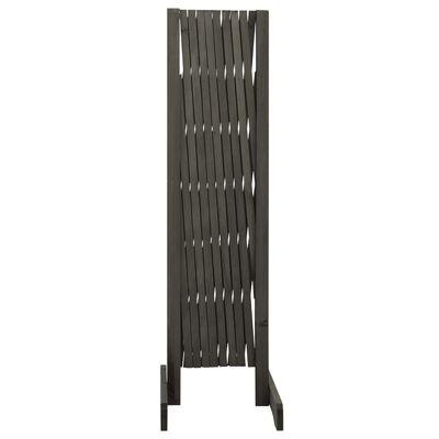 vidaXL Garden Trellis Fence Grey 180x100 cm Solid Firwood