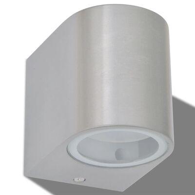 vidaXL Outdoor LED Wall Lights 2 pcs Round Downwards