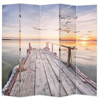 vidaXL Folding Room Divider 200x170 cm Lake