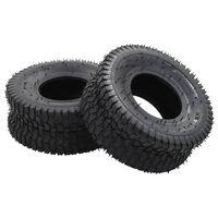 vidaXL Wheelbarrow Tyres 2 pcs 15x6.00-6 4PR Rubber