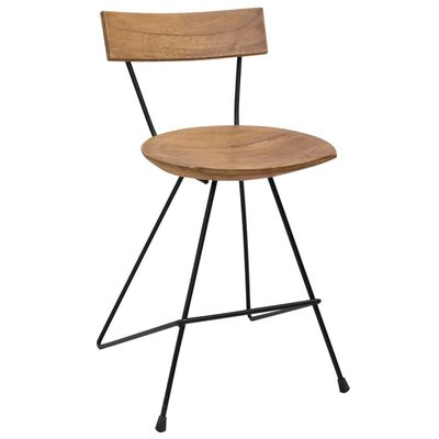 Instantly introduce a flair of rustic style to your interior decor with our stylish solid wooden dining chairs!