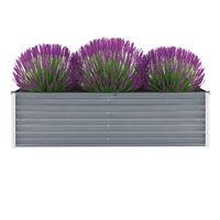 vidaXL Garden Raised Bed Galvanised Steel 160x40x45 cm Grey