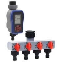 vidaXL Digital Water Timer with Single Outlet and Water Distributor