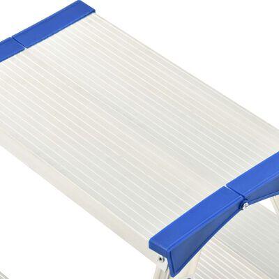 vidaXL Aluminium Double-Sided Step Ladder 4 Steps 90 cm