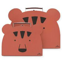 Jollein 2 Piece Play Suitcase Animal Club Rust Red