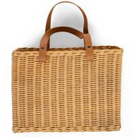 CHILDHOME Hanging Storage Basket with 2 Handles Natural