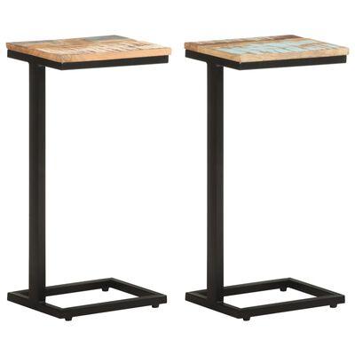 vidaXL Side Tables 2 pcs 31.5x24.5x64.5 cm Solid Reclaimed Wood