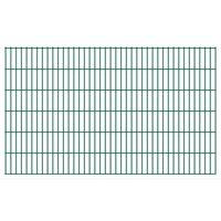vidaXL 2D Garden Fence Panels 2.008x1.23 m 16 m (Total Length) Green