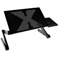 United Entertainment Multifunctional Laptop Stand Black