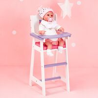 White Doll High Chair by Olivia's World Wooden Furniture Role Play Gif