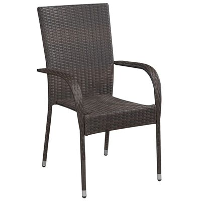 Add a touch of contemporary style to your garden, patio or terrace with these poly rattan dining chairs!