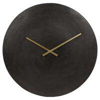 Gifts Amsterdam Wall Clock Moon L Aluminium Black 38cm