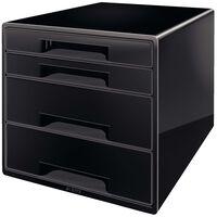Leitz Desk Cube 4 Drawers Black