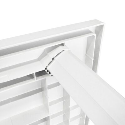 vidaXL Garden Table White 126x76x72 cm Plastic