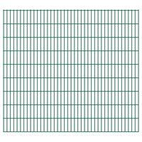 vidaXL 2D Garden Fence Panels 2.008x1.83 m 28 m (Total Length) Green