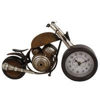 Gifts Amsterdam Desk Clock Motor Metal Brown 35x13x17.5cm