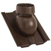 vidaXL Roof Ventilator Brown