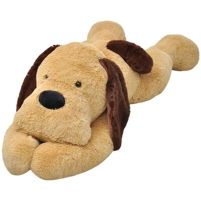 Who wouldn't want to cuddle with our supersoft XXL plush dog? Our extra-large plush dog will become an instant best friend for children of every age.