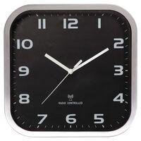 Perel Wall Clock 27 x 27 cm Black and Grey