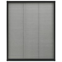 vidaXL Plisse Insect Screen for Windows Aluminium Anthracite 80x100 cm