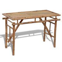 vidaXL Folding Garden Table 120x50x77 cm Bamboo