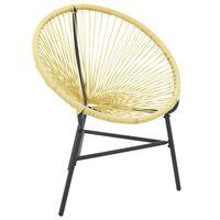 vidaXL Garden Acapulco Chair Poly Rattan Beige