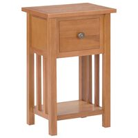 vidaXL Magazine Table with Drawer 35x27x55 cm Solid Oak Wood