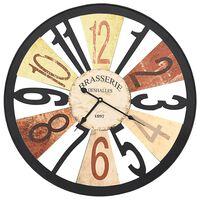 vidaXL Wall Clock Metal 60 cm Multicolour